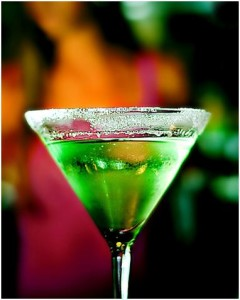 St Paddy's Green Martini
