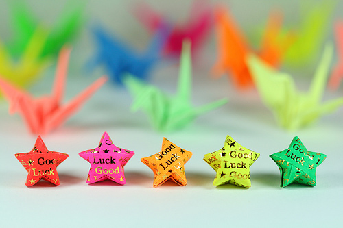 すべての折り紙 折り紙 立体 星 : Wishing Someone Good Luck