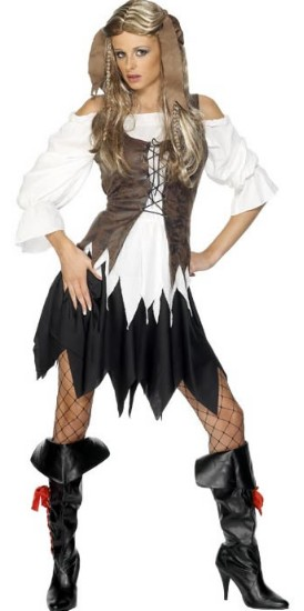 pirate Totally Ghoul Adult Deluxe Pirate or Fair Maiden Couple Costumes Reviews