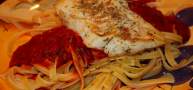 Boy-Approved Recipes: Sauteed Italian Spiced Cod Over Fettucini Marinara