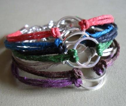 How To Make A String Charm Bracelet