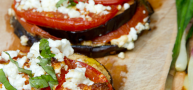How To… Cook Delicious Grilled Eggplant With Tomato And Feta