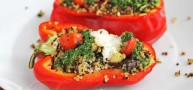 A Healthy Power Food Recipe: How To… Make Quinoa Stuffed Peppers With Veggies