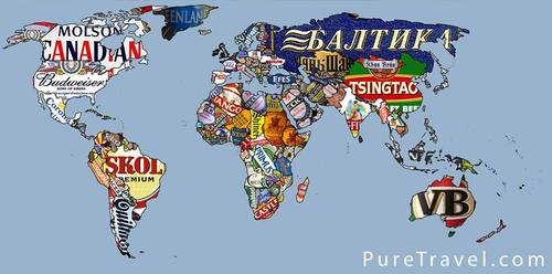 Beer world map