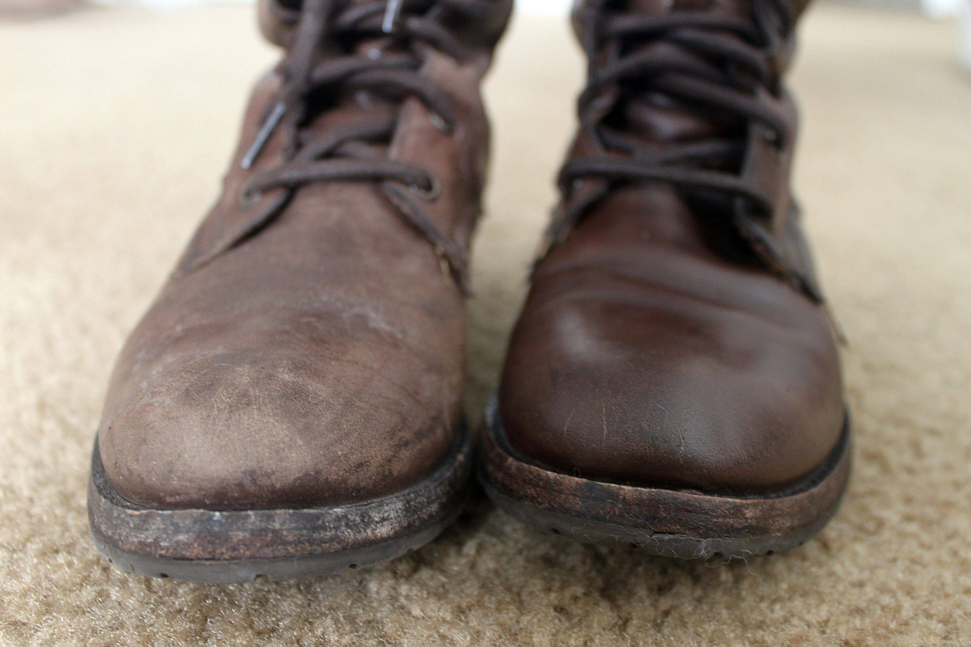 Scuffed Leather Shoes