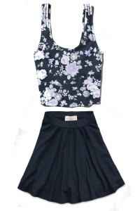 crop and skirt