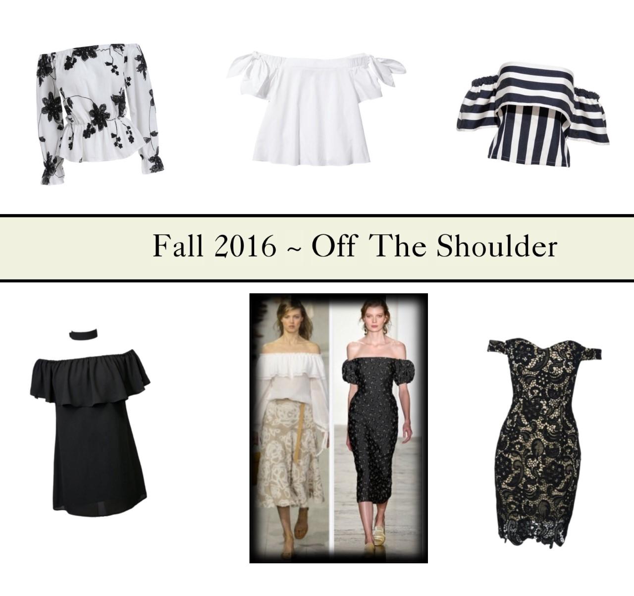 off the shoulder fashion
